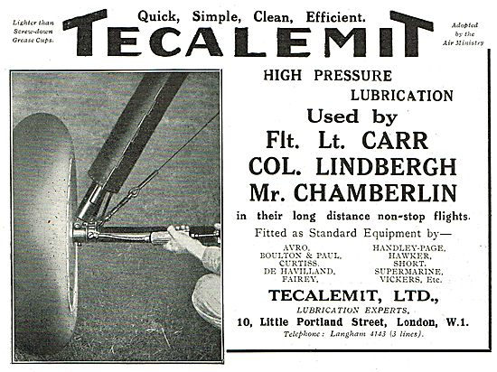 Tecalemit High Pressure Lubrication Gun Used By Col Lindbergh