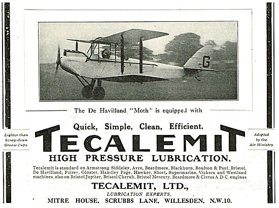 Tecalemit High Pressure Lubrication For The DH Moth