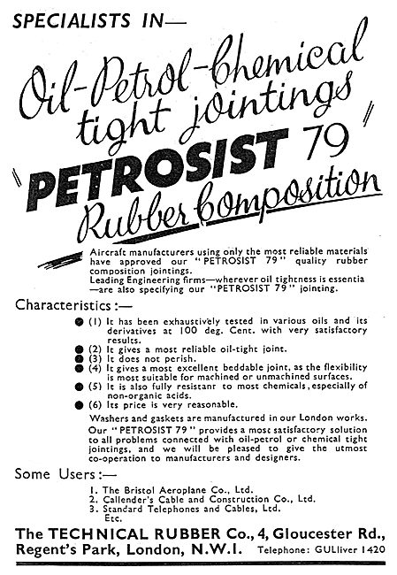 Technical Rubber - Petroist 79 Rubber Composition