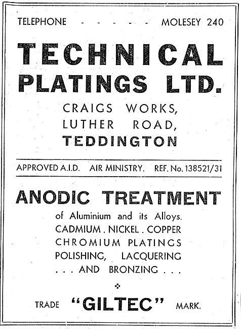 Technical Platings - Anodic Treatment