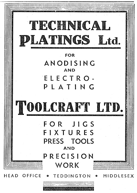 Technical Platings - Toolcraft Aircraft Jigs, Tools & Fixtures