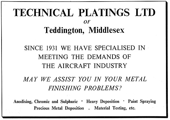 Technical Platings Metal Finishing Services
