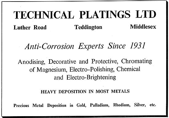 Technical Platings - Anti Corrosion Experts Since 1931