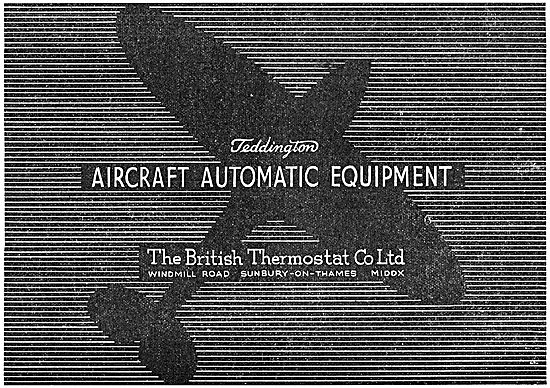 Teddington Automatic Equipment - British Thermostat