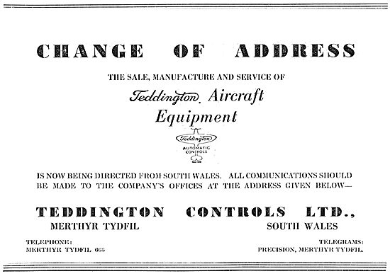 Teddington Controls & Aircraft Equipment