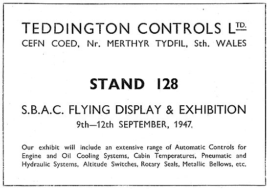 Teddington Controls SBAC 1947