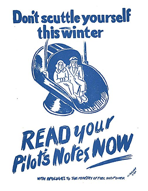 Tee Emm Pilots Notes Spoof Ads - Ministry Of Fuel & Power
