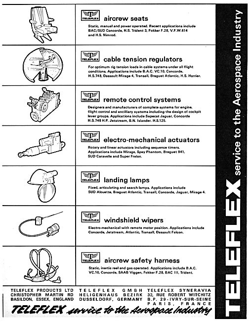 Teleflex Aircraft Components Listings