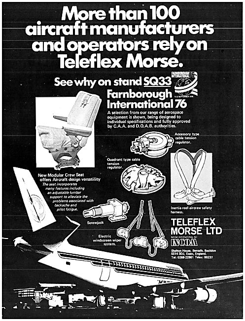 Teleflex Morse Controls & Crew Seating