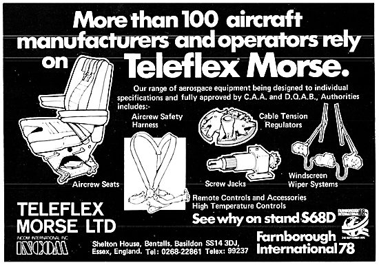 Teleflex Morse Remote Controls & Aircrew Seats