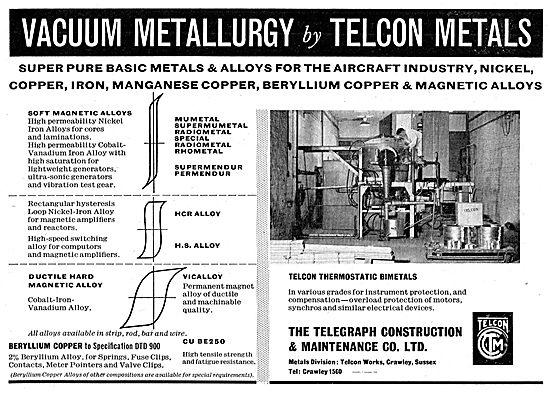 Telegraph Construction Telecon Thermostatic Bimetals