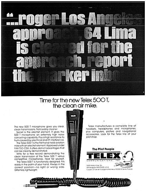 Telex Headsets & Communications Systems