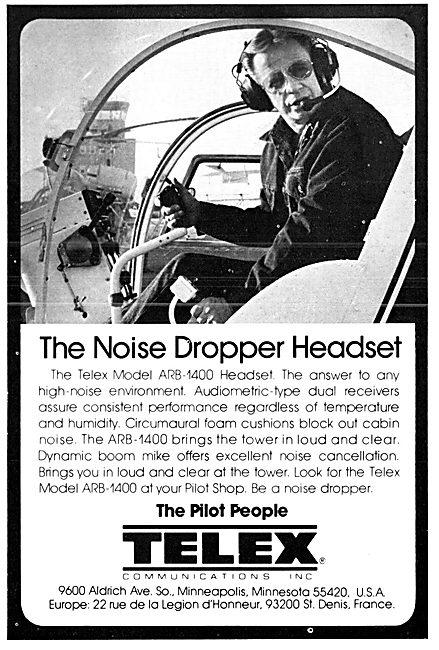 Telex Noise Dropper Headset  1976