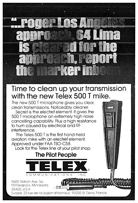 Telex 500 T Hand Microphone