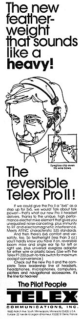 Telex Aircrew Headsets & Communications Systems