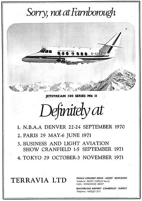 Terravia Ltd - Jetstream 100 Series MK II  G-ATXJ