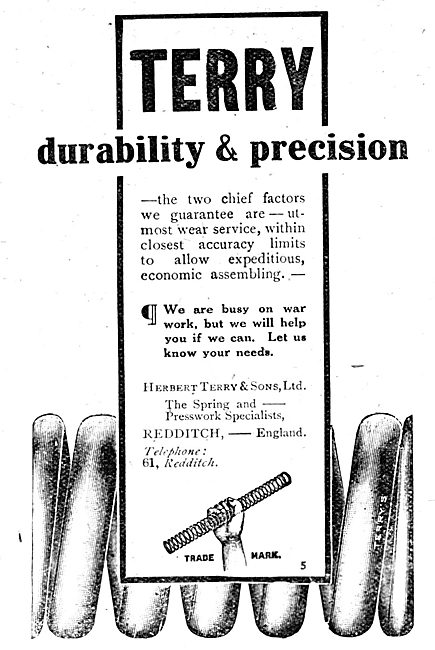 Terry's Springs & Presswork. 1917 Advert