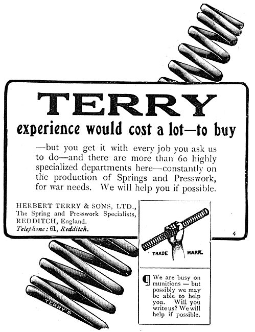 Terry's Springs & Presswork - WW1 Advert