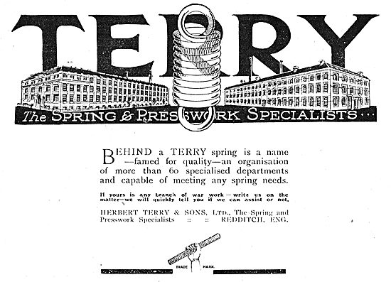 Herbert Terry, Redditch. Presswork & Springs For Aircraft