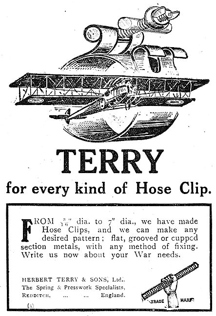 Herbert Terry, Redditch. Hose Clips For Aircraft