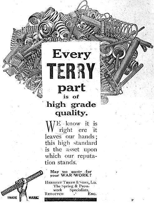 Herbert Terry, Redditch. Hose Clips & Springs For Aircraft