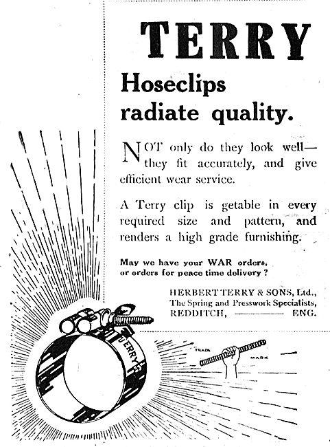 Herbert Terry, Redditch. Hose Clips For Aircraft