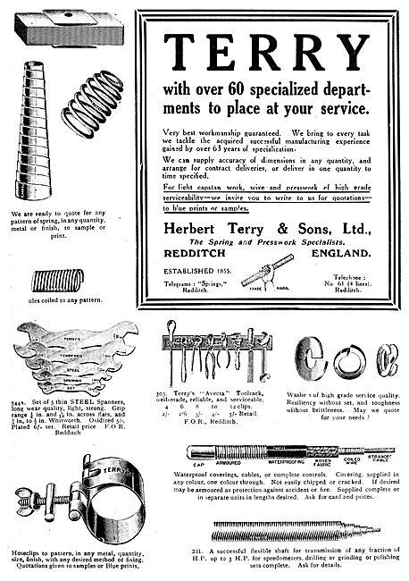 Herbert Terry & Sons. Springs, Presswork, Tools & AGS Parts