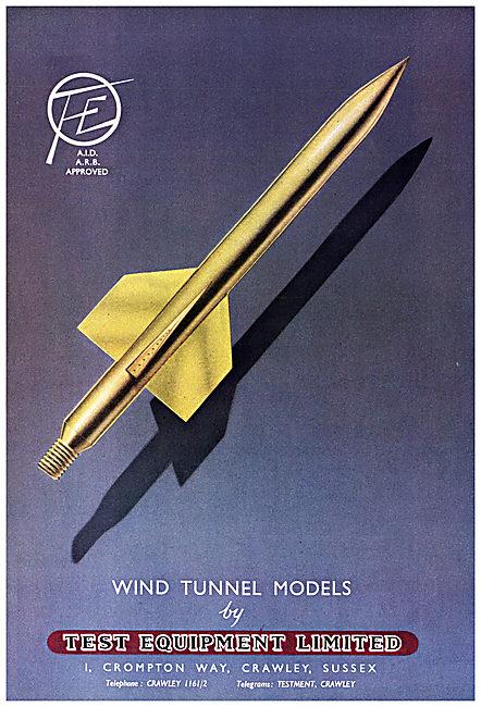 Test Equipment Ltd : Wind Tunnel Equipment. Test Instrumentation
