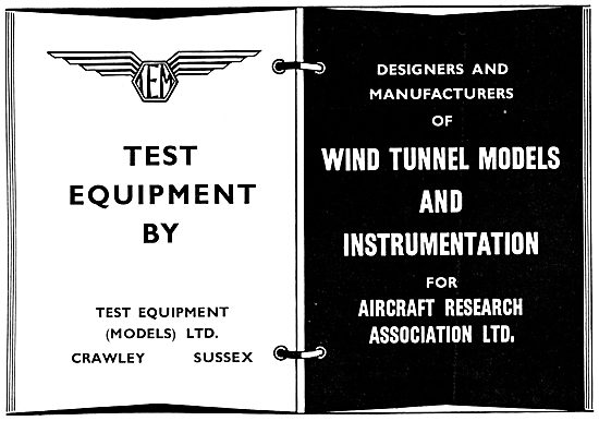 Test Equipment Ltd . Wind Tunnel Models &. Test Instrumentation