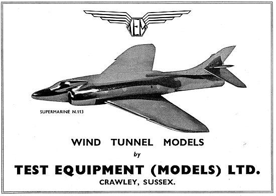 Test Equipment Ltd : Wind Tunnel Models