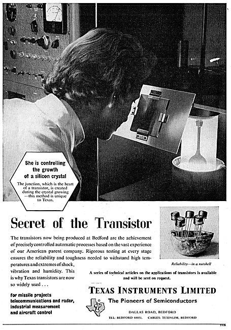 Texas Instruments Transistors For Missile & Radar Applications