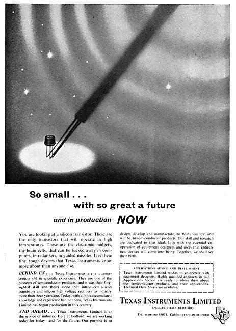 Texas Instruments Silicon Transistors 1958