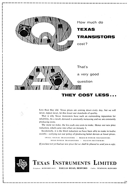 Texas Instruments Electronic Components 1959