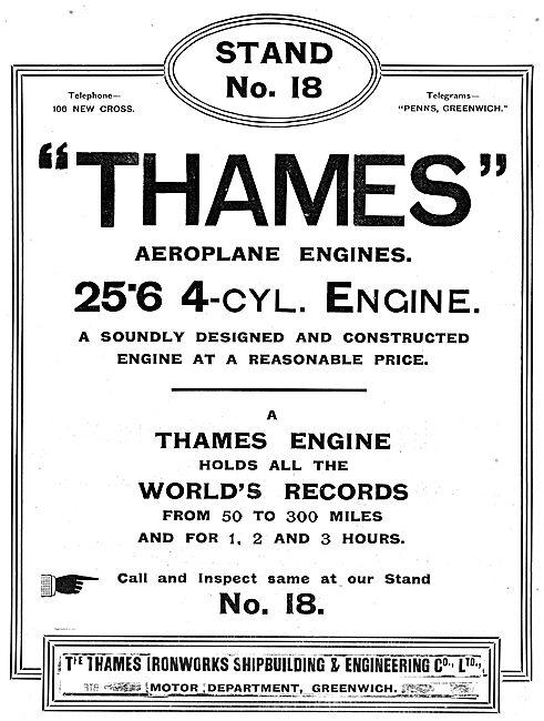 Thames Ironworks: Thames 4 Cylinder Aeroplane Engines