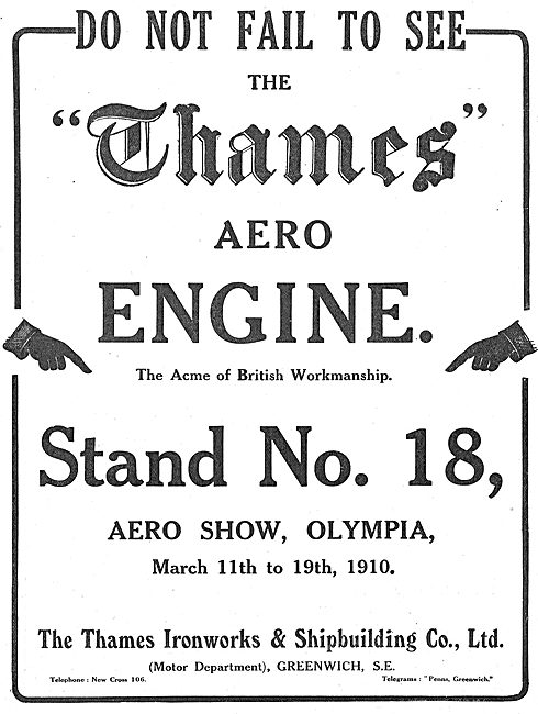 The Thames Aero Engine : The Acme Of British Workmanship