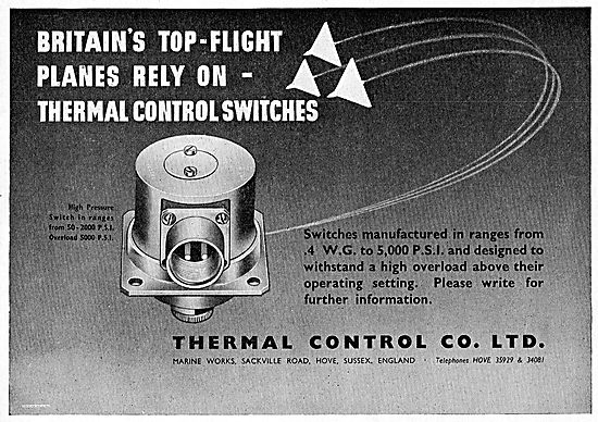 Thermal Control Aircraft 5000psi Thermal Control Switches