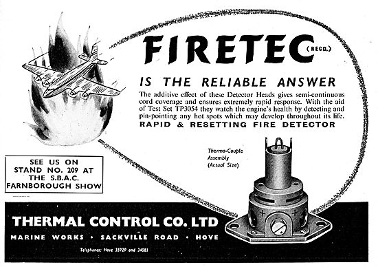 Thermal Control Firetec Fire Detector Heads