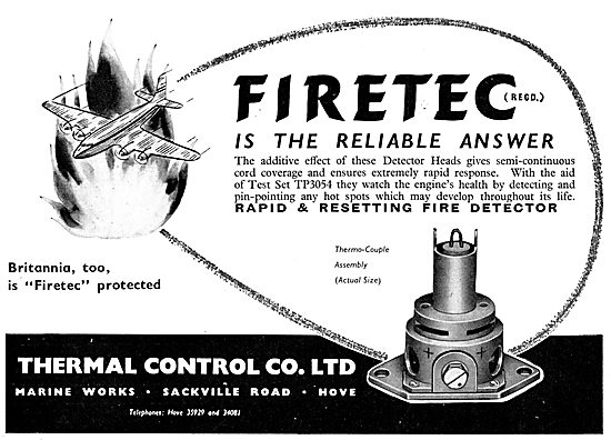 Thermal Control FIRETEC Fire Detectors