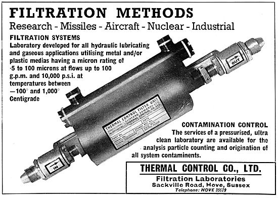 Thermal Control Filtration Systems