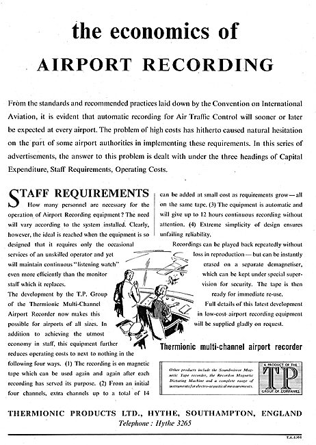 Thermionic Products - Multi-Channel Airport Recorders