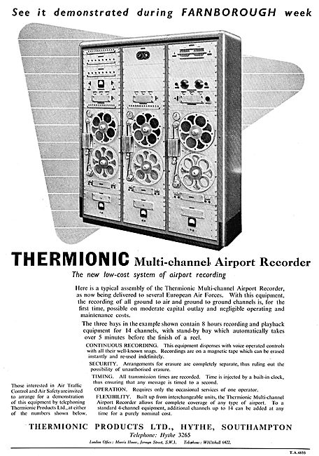Thermionic Products - Multi-Channel Airport ATC Recorders