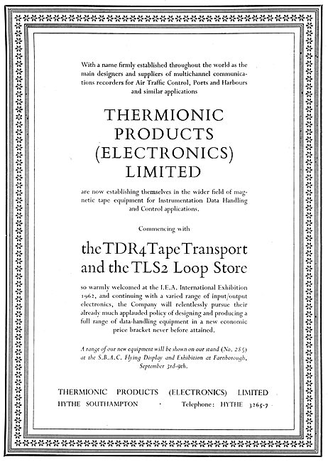 Thermionic Products Electronics - TDR4 Tape Transport & TLS 2