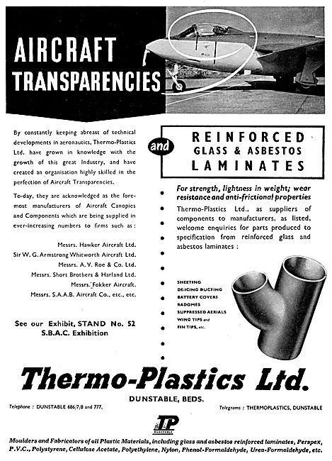 Thermo-Plastics :Aircraft Transparencies & Glass Fibre Laminates