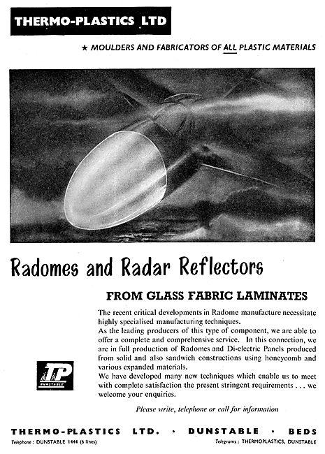 Thermo-Plastics : Fibre Glass Laminates & Mouldings. Radomes