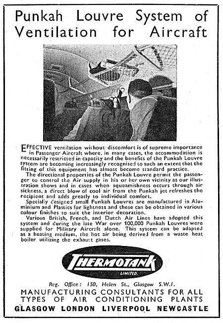 Thermotank Aircraft Ventilation Punkah Louvres