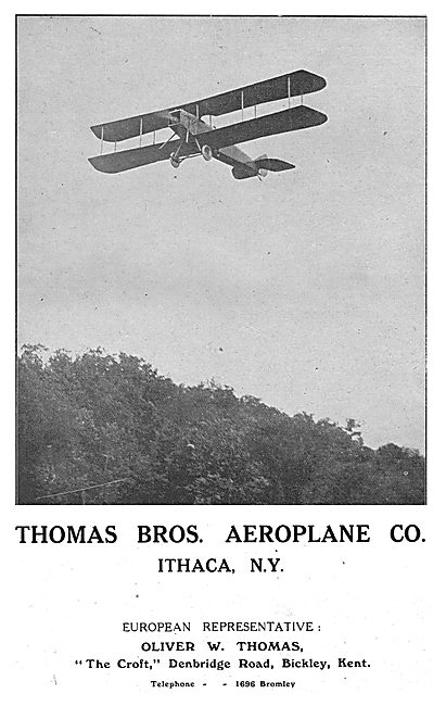 Thomas Bros Aeroplane Co Ithaca N.Y.