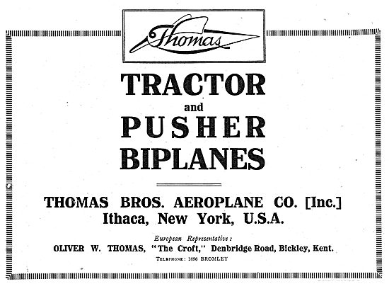 Thomas Bros Aeroplane Co. Tractor & Pusher Biplanes