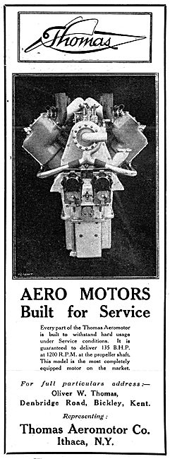 Thomas Aeromotor 1916 - Aero Engines