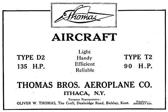 Thomas Brothers Aeroplane Co -  Thomas D2 Thomas T2