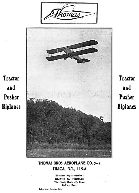 WW1 Thomas Aeroplanes - 1916